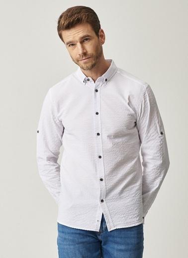 Altınyıldız Classics Tailored Slim Fit Dar Kesim Düğmeli Yaka Gömlek 4A2021100302 Beyaz